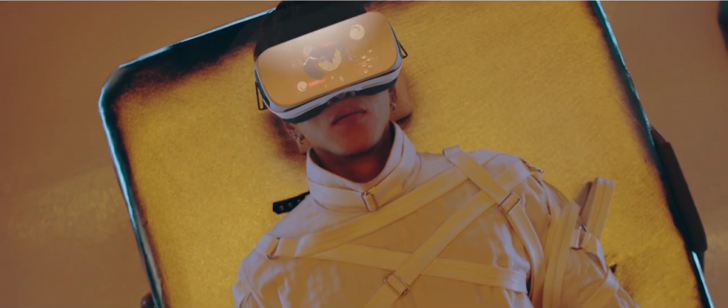 JUN.K uses a VR device to see what a solo career would be like if he were Jay Park