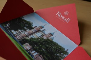 Mailer envelope for The Rossall Foundation