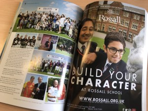 Rossall School advertisement in Guard's Polo Club Yearbook